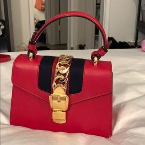 Gucci mini Sylvie bag in red